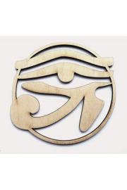 Oko Horusa ażurowe, drewno