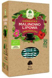 Herbatka Lipowo - Malinowa Bio (20 X 2,5 G) - Dary Natury