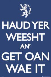 Szkocja Keep Calm - plakat