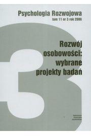 Psychologia rozwoju t.11 nr 3 rok 2006