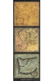 W�adca Pier�cieni Mapa �r�dziemia - plakat