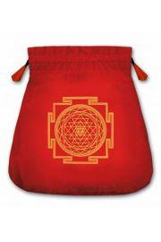 Aksamitny woreczek z symbolem Jantra 2 (na karty tarota)