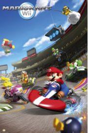 Nintendo Wii Mario Bros Kart - plakat