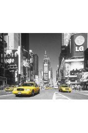 Nowy Jork Times Square yellow cab plakat 3D