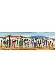 Kenia - Masajowie - plakat
