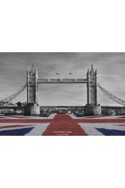 Londyn Tower Bridge by Tanya Chalkin - plakat