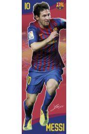 FC Barcelona Lionel Messi w Biegu - plakat