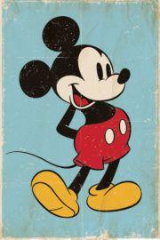 Myszka Miki Mickey Mouse Retro - plakat