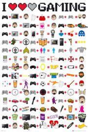 Kocham Grać - I Love Gaming - plakat