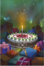 Poczt�wka z b�ogos�awie�stwem na Urodziny