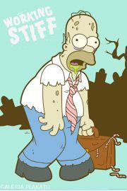 The Simpsons - Praca Potrafi Wyko�czy� - plakat
