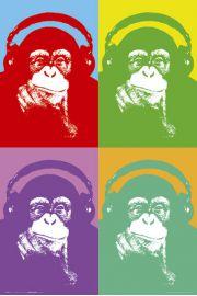 Steez Four Monkees - Małpy w Słuchawkach - plakat