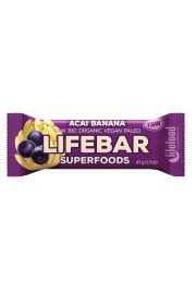 Baton Z Acai I Bananem Raw Bezglutenowy Bio 47 G - Lifefood
