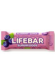 Baton Z Jagodą I Quinoa Raw Bezglutenowy Bio 47 G - Lifefood