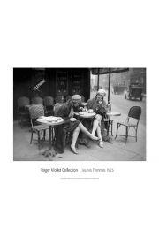 Kawiarnia w Paryżu Jeunes Femmes 1925 - reprodukcja