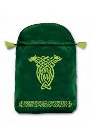 Satynowy woreczek z symbolem celtyckim (na karty tarota)