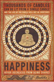 Szczęście - Budda i Tysiąc Świec - plakat motywacyjny