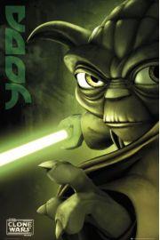 Clone Wars Wojny Klonów Yoda - plakat