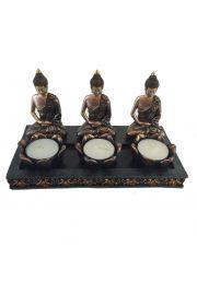 Podgrzewacz na 3 małe świeczki - tajski budda