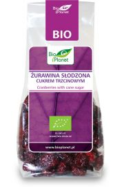 Żurawina Słodzona Cukrem Trzcinowym Bio 100 G - Bio Planet