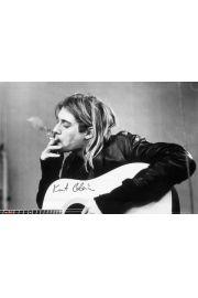 Kurt Cobain Smoking Nirvana - plakat