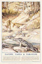 Dinozaury - Cacops i Waranops - plakat