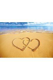 Serca na Plaży - plakat