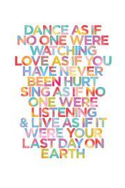 Tańcz jak ... - plakat motywacyjny
