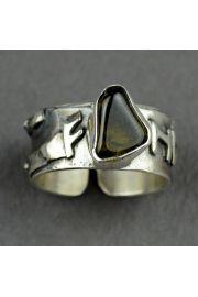 Pierścień obfitości FEHU z oliwinem nr. 15-16