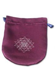Satynowy woreczek na karty Tarota – Shri Yantra