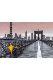 Nowy Jork Odpoczynek na Brooklyn Bridge - plakat