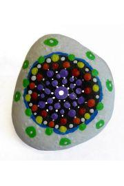 Kamień z mandalą siedem czakr