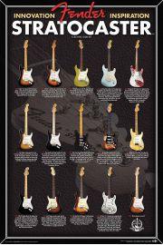 Gitary Fender Stratocaster - plakat