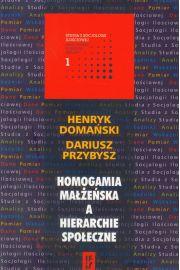 Homogamia ma��e�ska a hierarchie spo�eczne