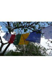 Tybetańskie flagi modlitewne - 20x24cm/210 cm