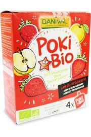 Poki - Przecier Jab�kowo-Truskawkowy 100% Owoc�w Bez Dodatku Cukr�w Bio 4X90 G - Danival