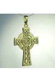 Krzyż celtycki zwykły, pozłacany