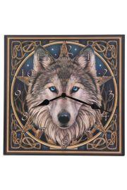 Zegar obraz - Celtycka głowa wilka zaprojektowny przez Lisa Park