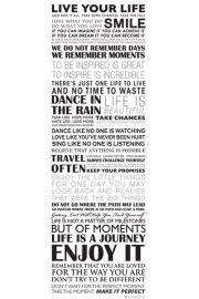 Żyj Własnym Życiem - plakat motywacyjny