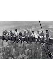 Nowy Jork Robotnicy Pora Obiadowa - plakat