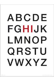 Alphabet Hi - art print