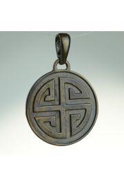 Gammadion (Svastika) - krzyż gnostyczny, brąz