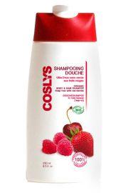 Coslys, Witaminizujący szampon i żel pod prysznic 2 w 1 z czerwonymi owocami, 250 ml