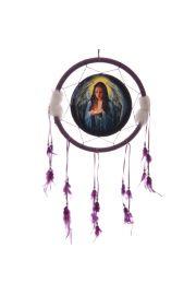 Łapacz snów - indiańska ozdoba z namalowanym aniołem 33cm