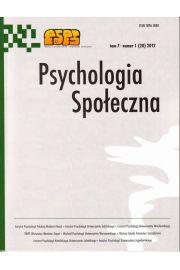 Psychologia Społeczna nr 1(20)/2012