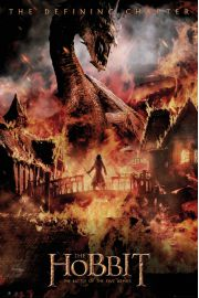 Hobbit Bitwa Pi�ciu Armii Smok - plakat