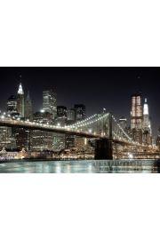 Nowy Jork Brooklyn Bridge Nocą - plakat