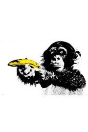 Steez Monkey - Małpa z Bananem - plakat
