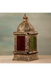 Marokański stojący złoty lampion