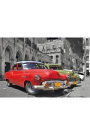 Hawana - Kuba - retro samochody - plakat